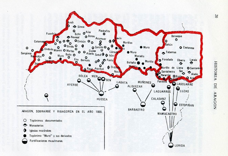 Aragón, Sobrarbe y Ribagorza en el año 1000